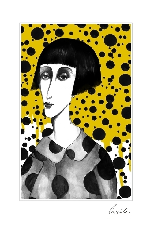 Happy birthday Yayoi Kusama - illustration - cardula | ello