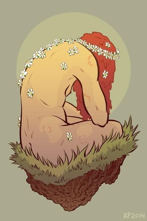 private patch grass - flowers, scars - rachelpoulson | ello