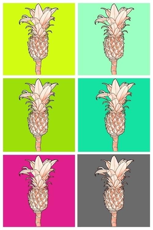 Ananas popart - illustration, drawing - tiki-1251 | ello