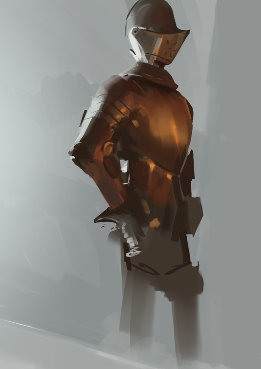 quick sketch update. Painting s - nickadrian | ello