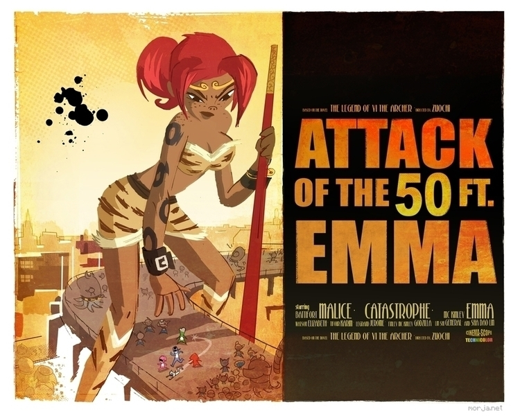 Attack 50ft Emma. Inspired 50 f - morja | ello