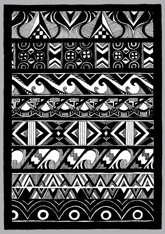 Pacific Patterns - illustration - tiki-1251 | ello