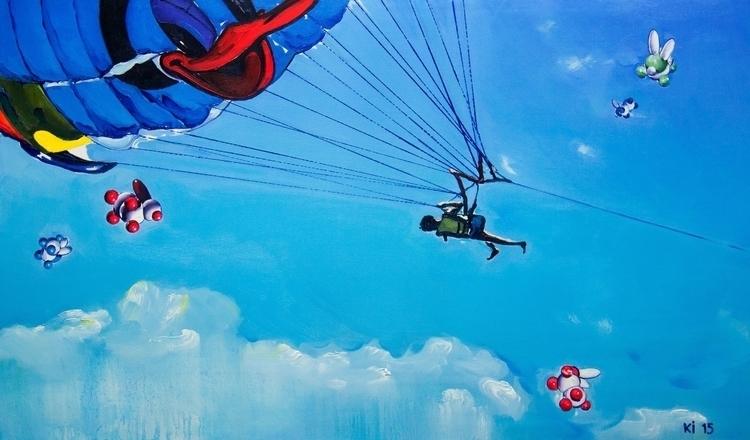parachute person rose highly sk - igorkonovalov | ello