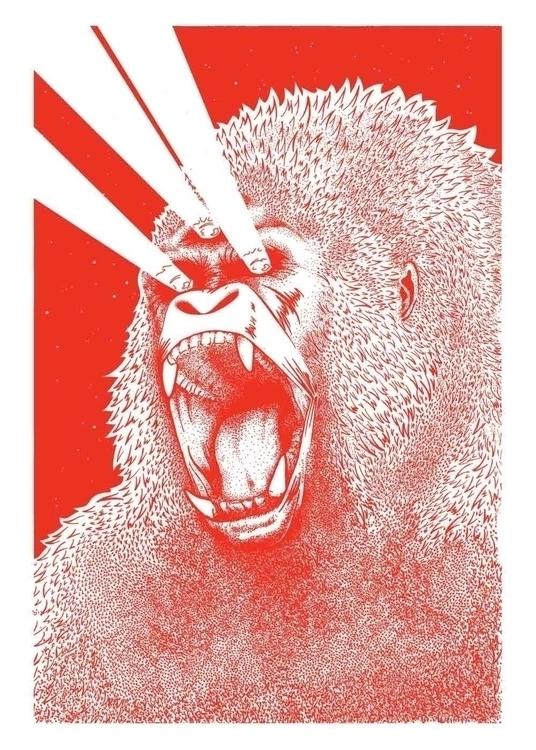 Eye Gorilla Silkscreen 50x70cm  - marceautruffaut | ello