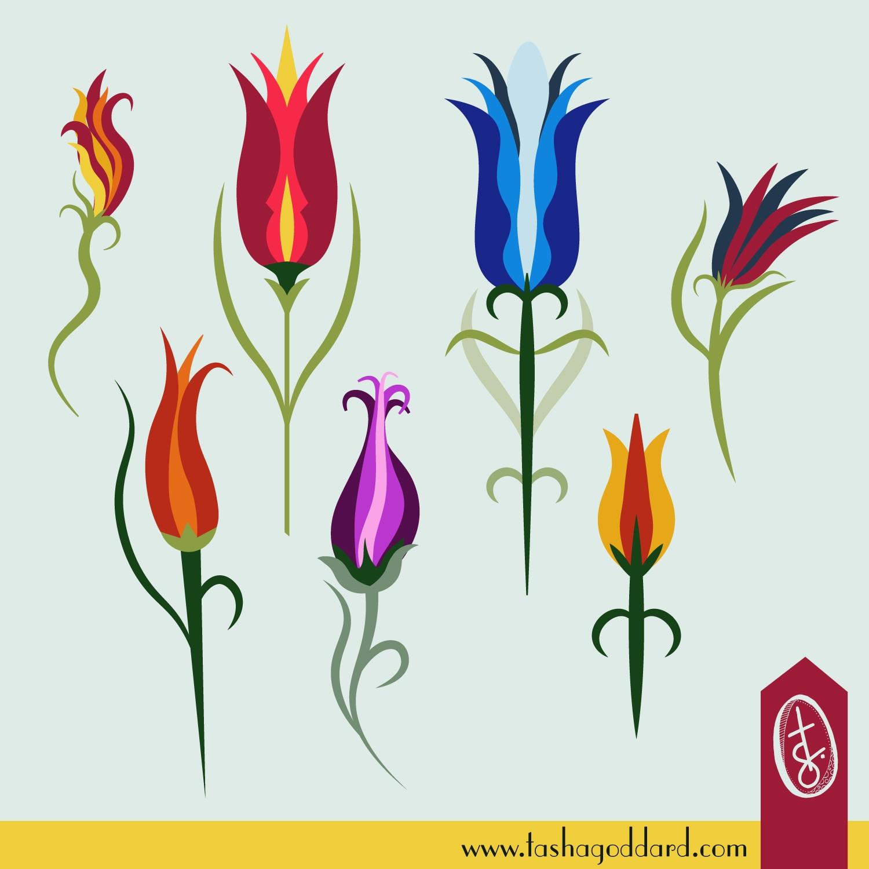 Turkish Tulips - florals, tulips - tashagoddard | ello