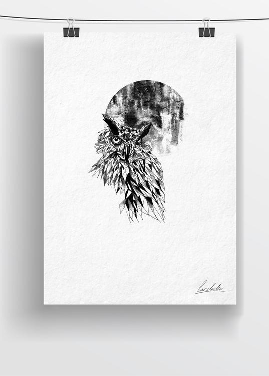 draw - drawing, art, penink, owl - cardula | ello