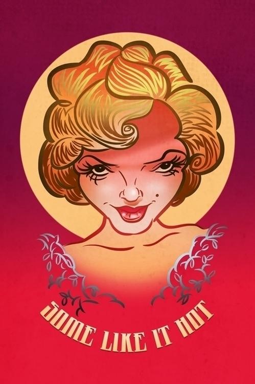 Monroe - marilynmonroe, illustration - marts-1415 | ello