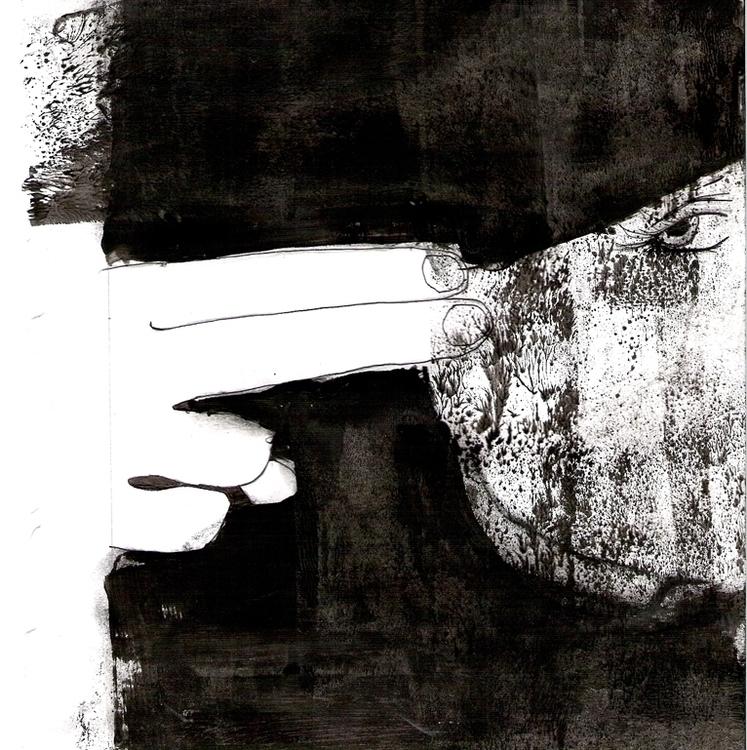 Andrea - blackandwhite, ink, penink - ingeduiker | ello