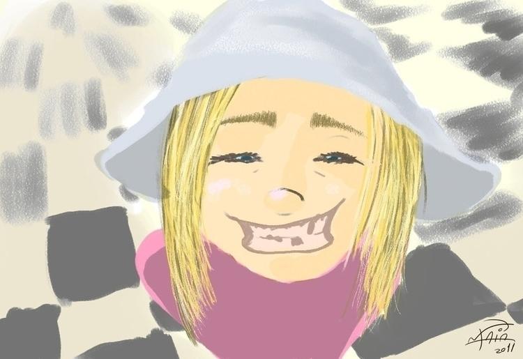 Happy kid - corelpainter, illustration - binomaia | ello