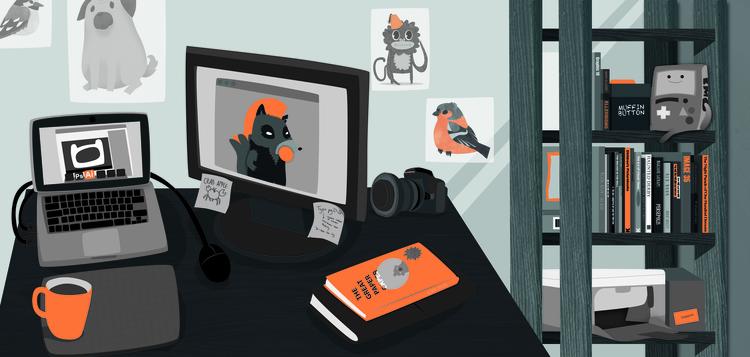 Promotional image - desk - workspace - clairestamper | ello