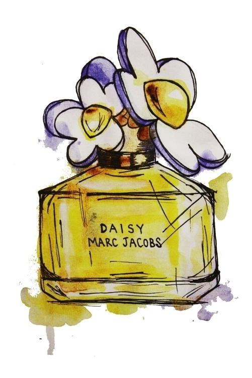 Marc Jacobs daisy art - perfumeillustration - kaitlynsmith | ello
