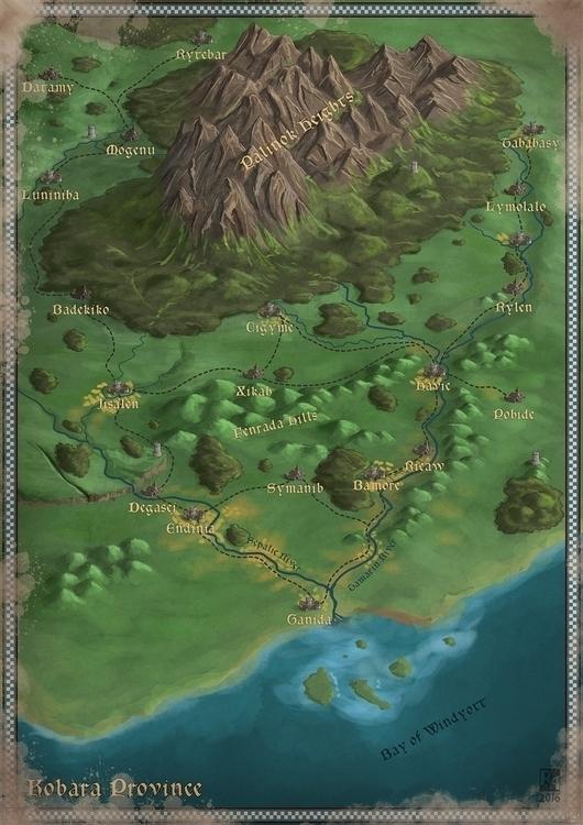 Kobara Province. painting attem - robertaltbauer | ello