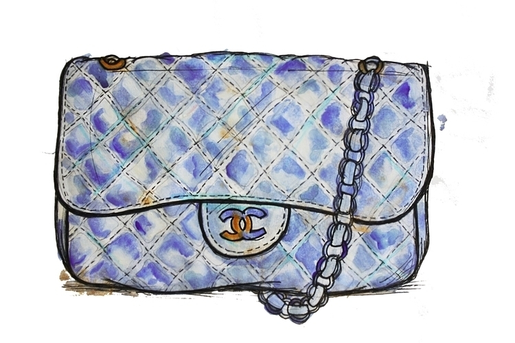 fashion illustration - chanel, handbagart - kaitlynsmith | ello