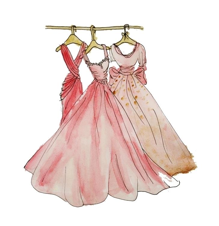 dress illustration - gown, art, watercolor - kaitlynsmith | ello