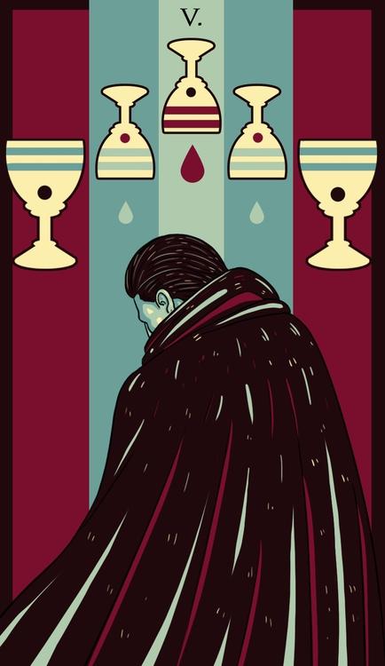 Cups - illustration, tarot - wingywonky-5811 | ello