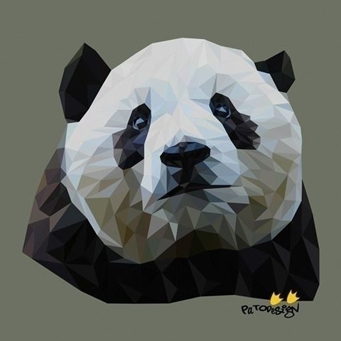 Oso Panda - illustration, geometric - patodesign | ello