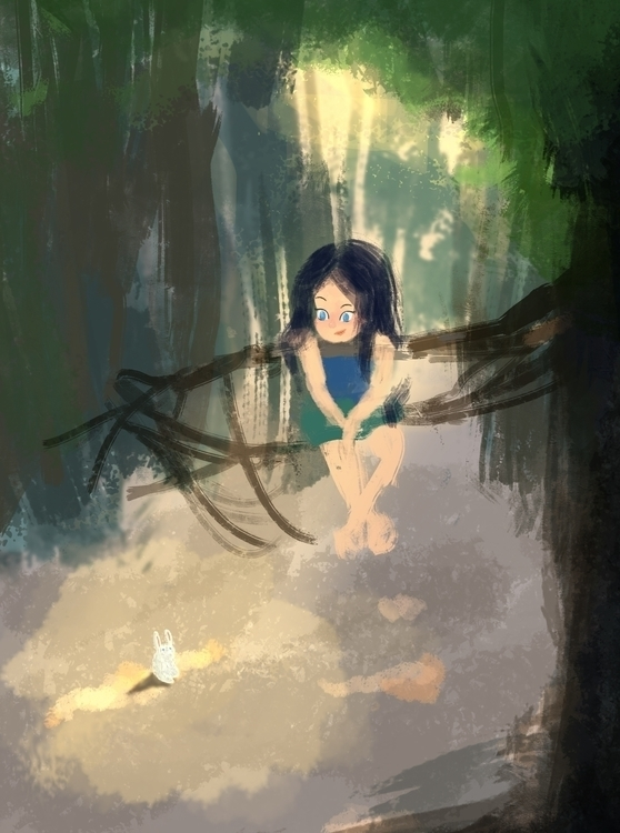 Zone - littlegirlillustration,girlinforest,storybook - nazuba | ello