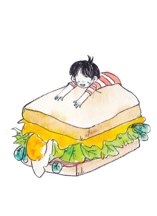 sando - food, sketchbook, traditionalart - llyvn | ello