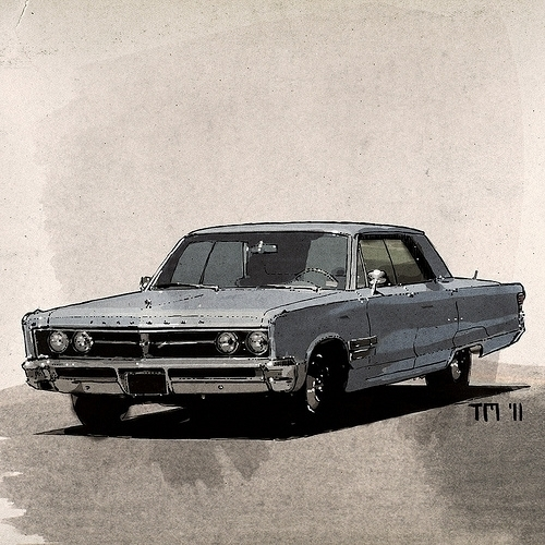 Chrysler Yorker 1967 ink waterc - monkeycrisisonmars | ello