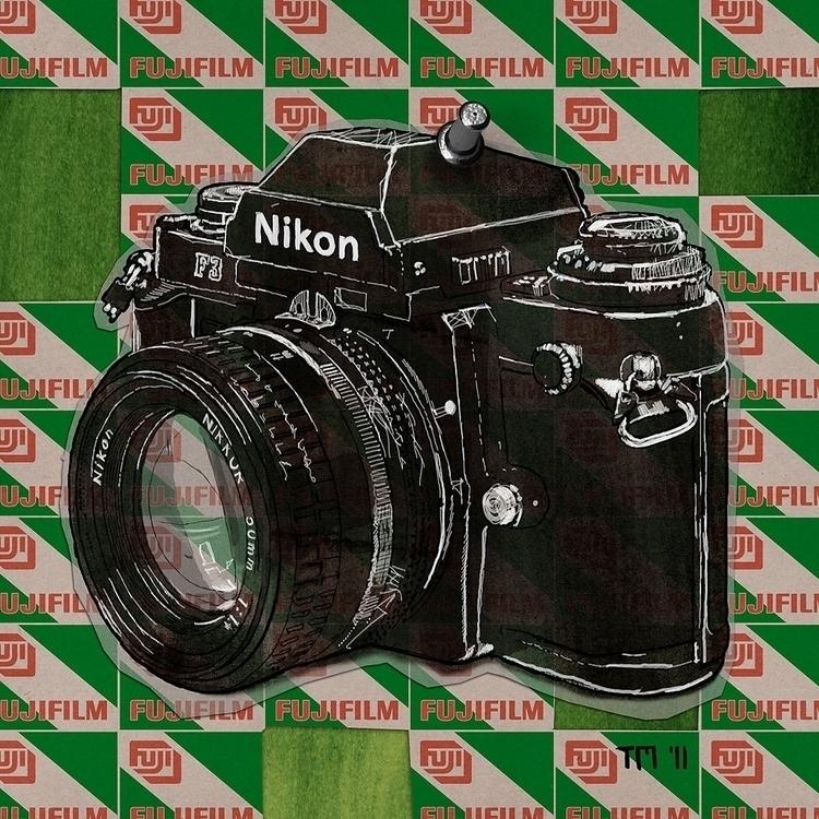 Nikon F3 Fujifilm collage Tom M - monkeycrisisonmars | ello