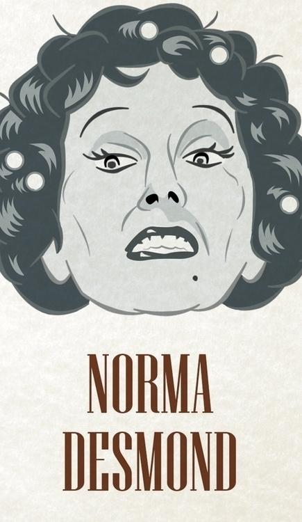 Norma Desmond - charachter port - francescodibattista | ello