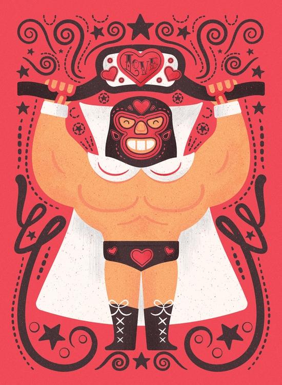 Valentine concept wrestled - valentinesday - mrmack-4537 | ello