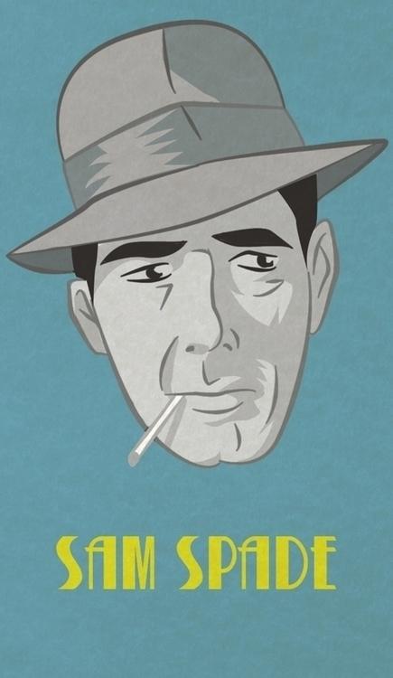 Sam Spade - charachter portraye - francescodibattista | ello