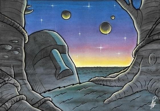 Dawn - illustration, painting, dawn - marcorizzi-1205   ello