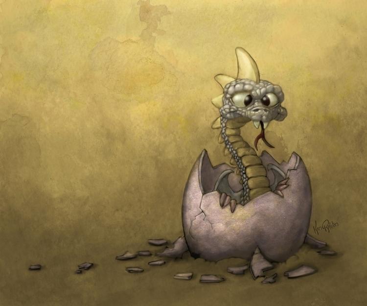 Esko baby dragon. series digita - kenrolston | ello