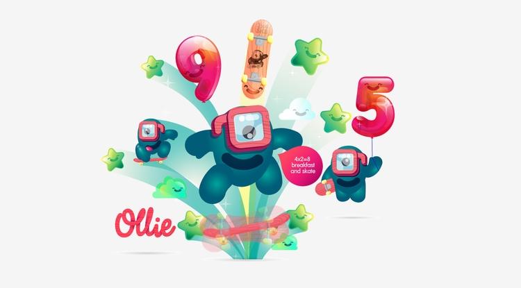 Ollie 2 - illustration#illustrator#vector#vectorart#vectorillustration#vectorcharacter#typography#characterdesign#drawing#draw#lukeandphil#naming - lukeandphil | ello