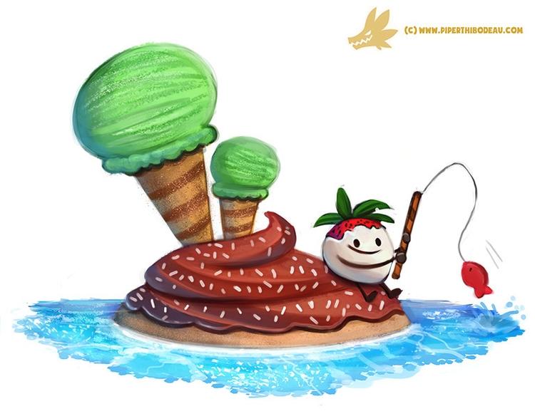 Daily Paint Dessert Island - 1144. - piperthibodeau   ello