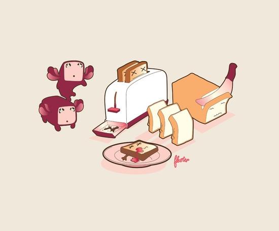 Toast - illustration#illustrator#vector#vectorart#vectorillustration#vectorcharacter#typography#characterdesign#drawing#draw#lukeandphil#flester - lukeandphil | ello