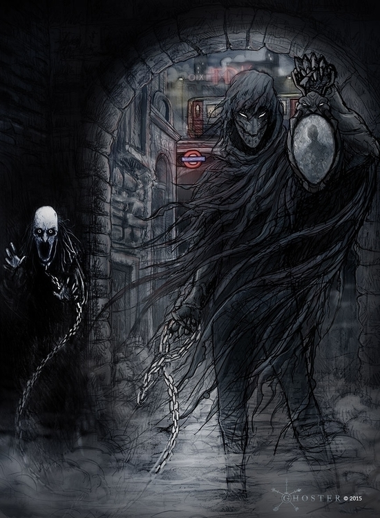 Ghoster - ragged cloaked figure - joebecci | ello