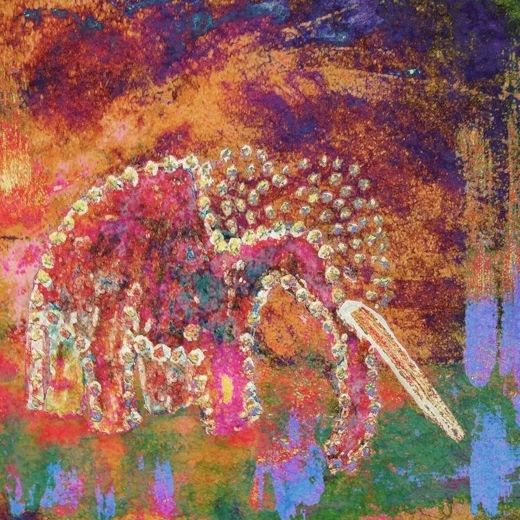 Orange Elephant, Elephants coll - geckojoy | ello