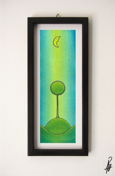 Tree (handmade frame - illustration - marcorizzi-1205 | ello