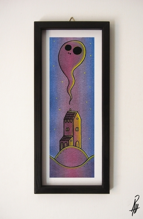Ghost (handmade frame - illustration - marcorizzi-1205 | ello