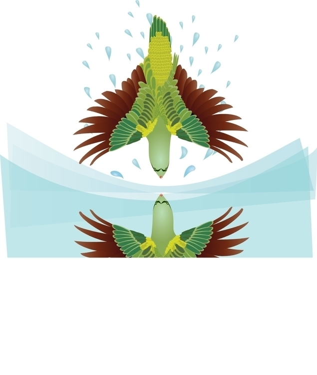 Parrot, Jakata Tale India - illustration - flyingquills203   ello