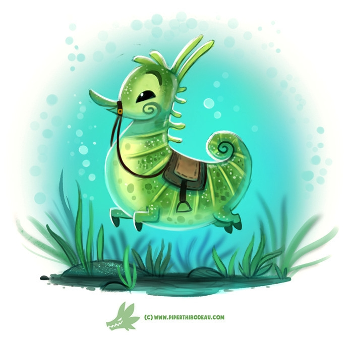 Daily Paint Seahorse - 1219. - piperthibodeau   ello