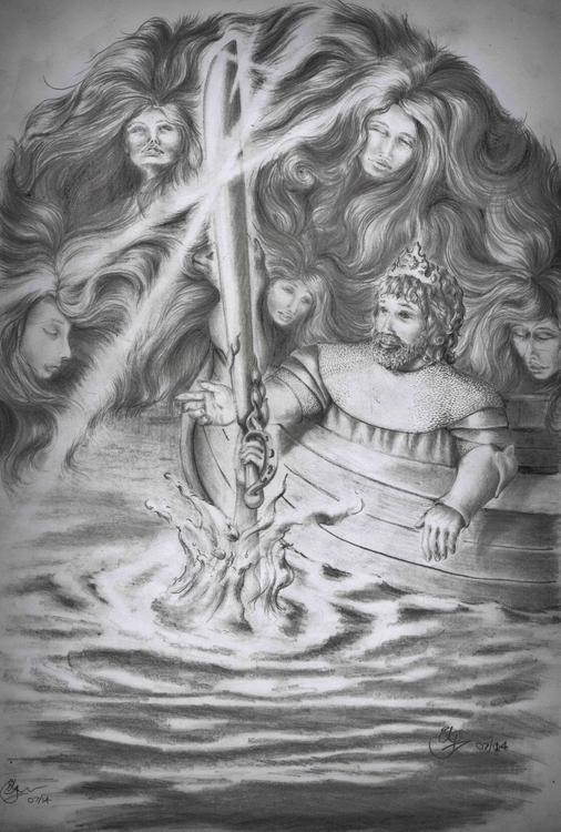 King Arthur graphite pencils - drawing - emilygrobler | ello