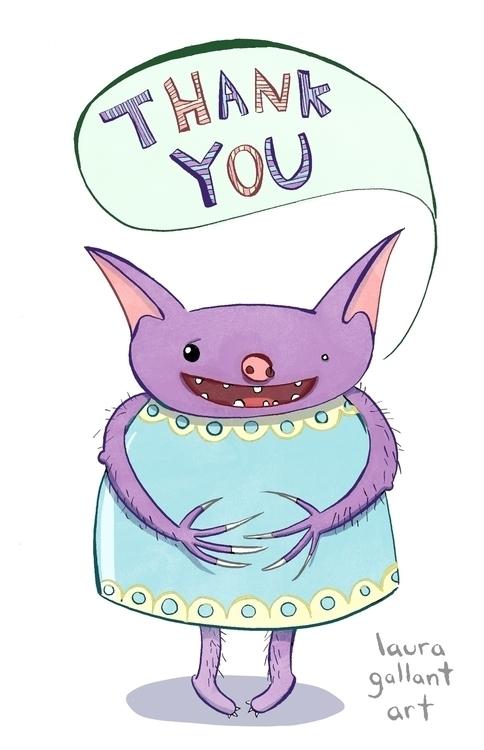 Monster Card Digital - illustration - lgallantart | ello