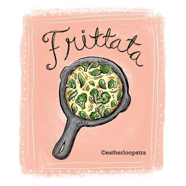 Frittata Illustration - food, foodillustration - estherloop | ello