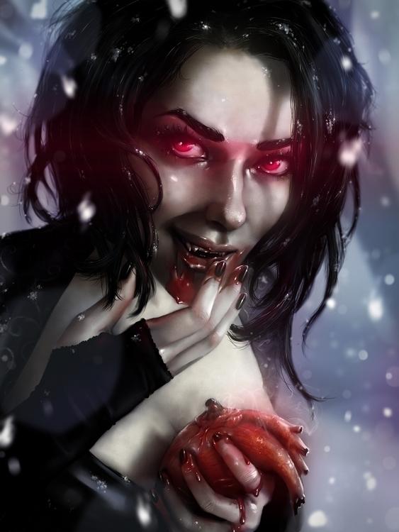 Vampire Valentine - Digital pai - penguinstein | ello