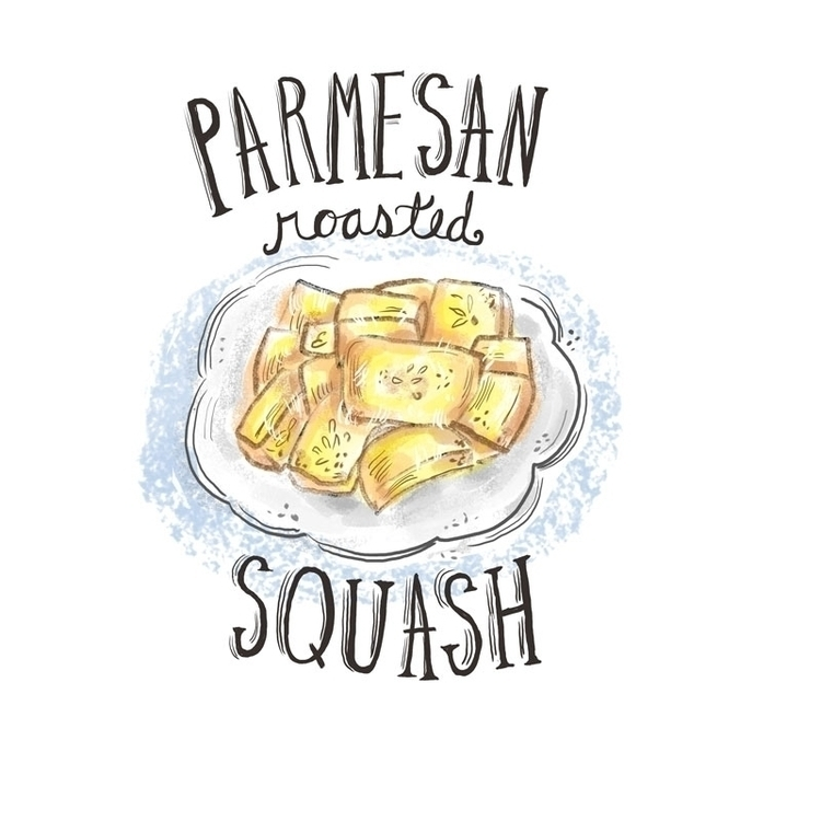 Parmesan Roasted Squash - foodillustration - estherloop | ello