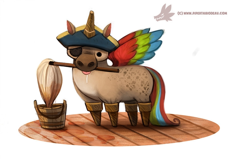 Daily Paint Pegasus - 1015. - piperthibodeau | ello