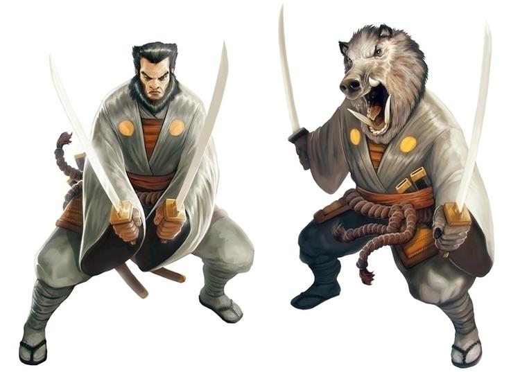 Character Samurai Spirit - #boar - victorperezcorbella | ello