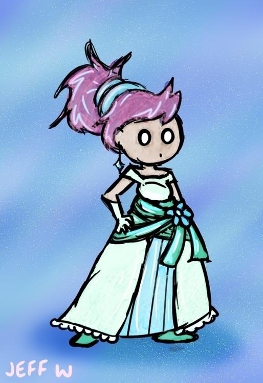 Fancy Dress - digitalart, girl, fancy - exiledsketches | ello