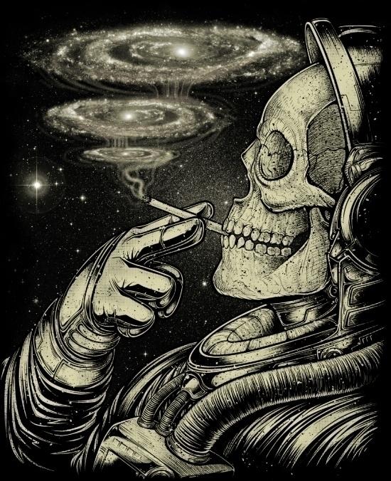 Winya 31 - skull, galaxy, space - winya | ello