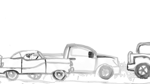Cars - illustration, animation, sumipainting - mkbarr | ello