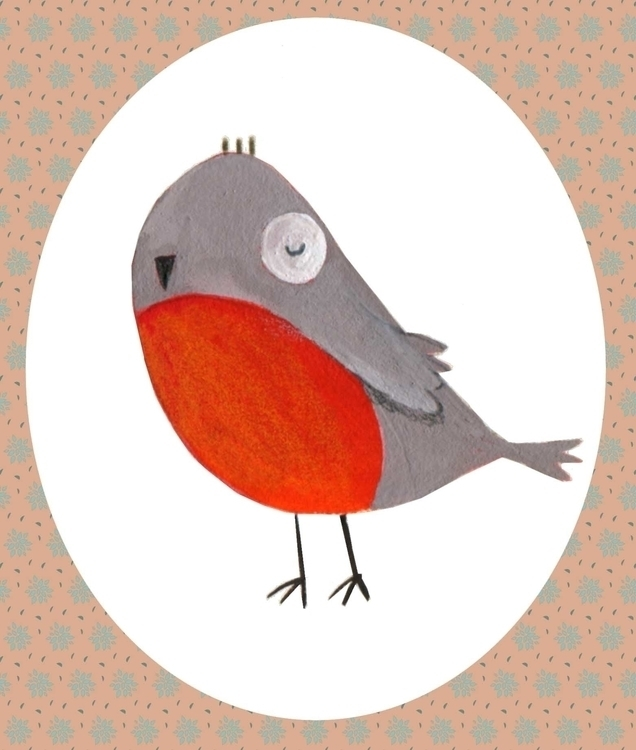Robin - illustration, illustration - francescaassirelli | ello