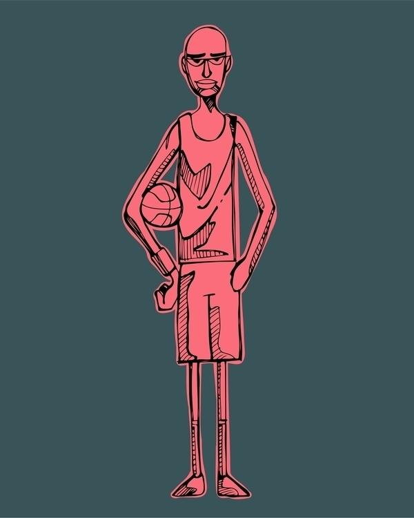basketball,man,ball,sport,illustration,drawing,man, - bernardojbp | ello